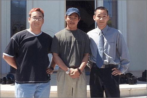 Mark Moran with Jet Li and Patrick Lee